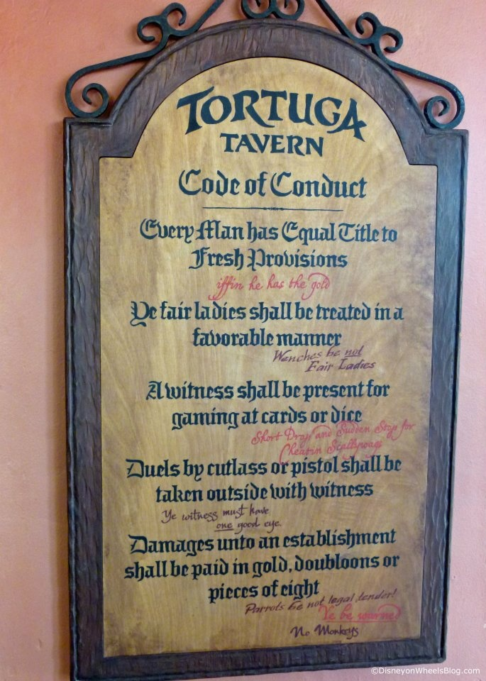 Pirate, Tavern Code of Conduct