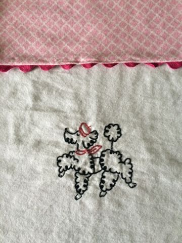The Retired Mama: Burp cloths Prancing Poodle