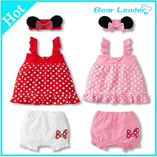 Aliexpress.com : Buy [ Bear Leader ] Lovely Baby Girl 3 Piec Suit: Mouse Ears Headband + Polka Dot Dress + White Shorts2 Colors: Pink And Red AHY026 from Reliable dress ballet suppliers on Bear Leader  | Alibaba Group