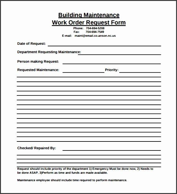 Maintenance Request Form Template In 2020 Templates Resume