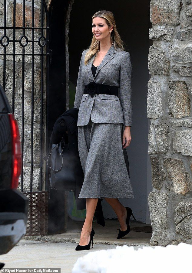 d1f60e8956f Ivanka Trump steps out with bare legs and no coat in snowy weather ...