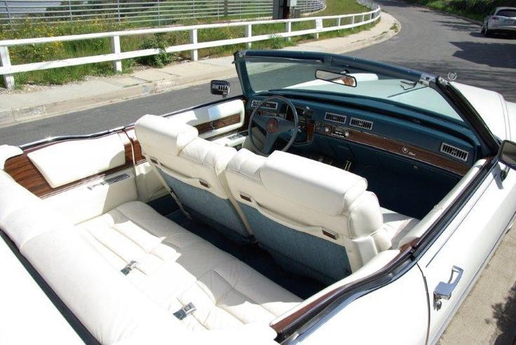 1976 Cadillac El Dorado Convertible White Exterior White And Blue Interior How I Love My