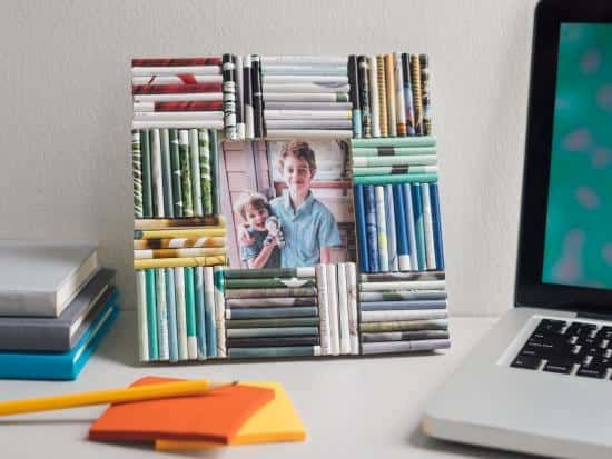 Cool project from http://www.kiwicrate.com/projects/Rolled-paper-Picture-Frame/2636: Rolled-paper Picture Frame