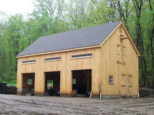 50 best images about barns and produce stands on pinterest for Post beam garage plans