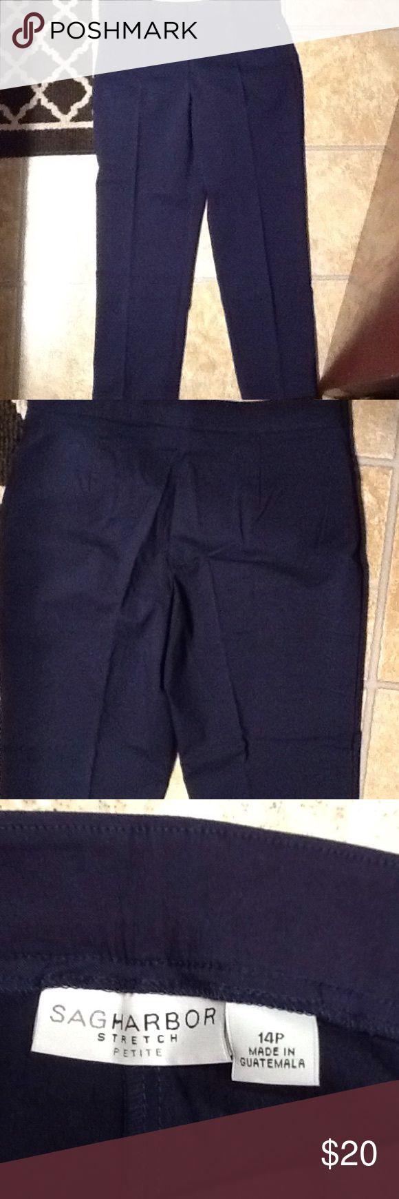 Sag Harbor Petite Pants Sag Harbor Stretch Petite Pants Size 14P Navy Blue Sag Harbor Pants