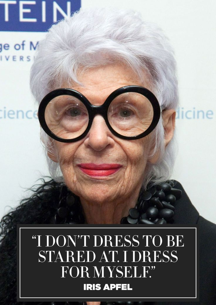 11 inspiring fashion quotes from style icon Iris Apfel: