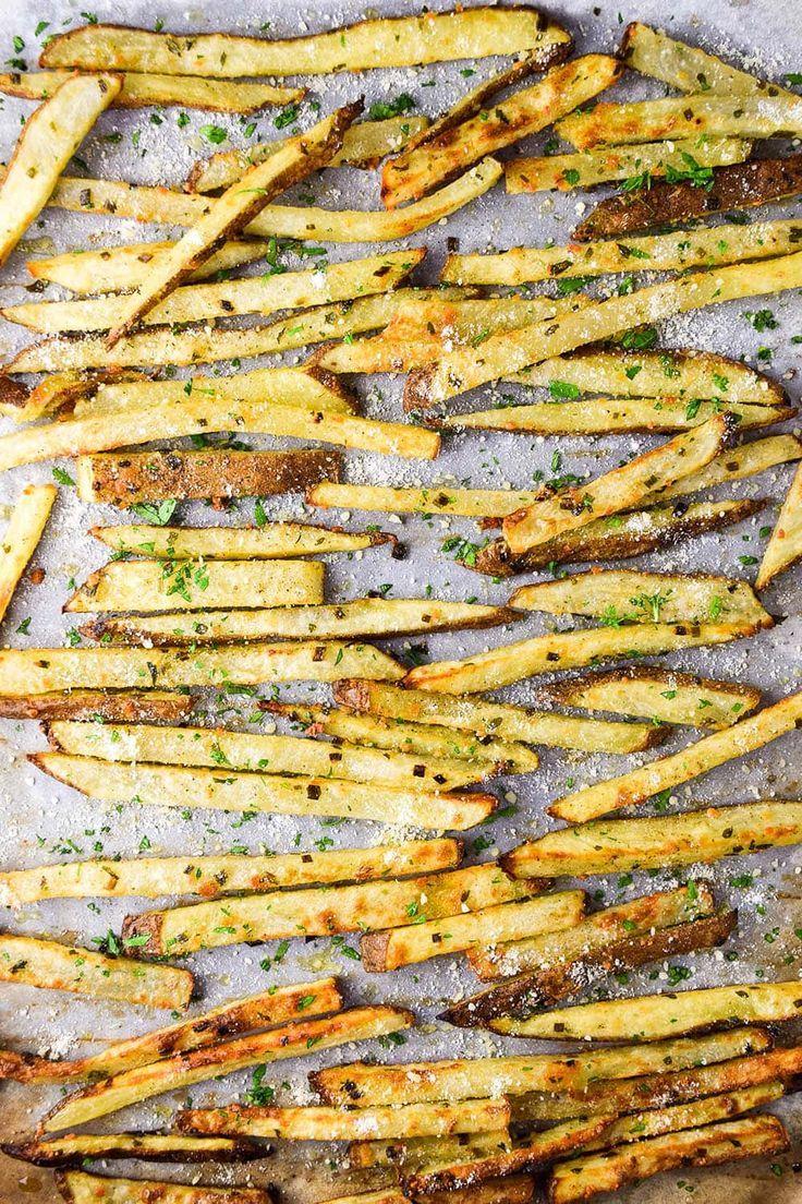 Baked Parmesan Truffle Fries Recipe Recipe Parmesan Truffle Fries Truffle Fries Fries Recipe