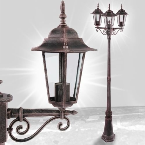 #Outdoor garden 3 lamp post victorian #patio antique #lighting #light lantern porc,  View more on the LINK: 	http://www.zeppy.io/product/gb/2/182183719149/