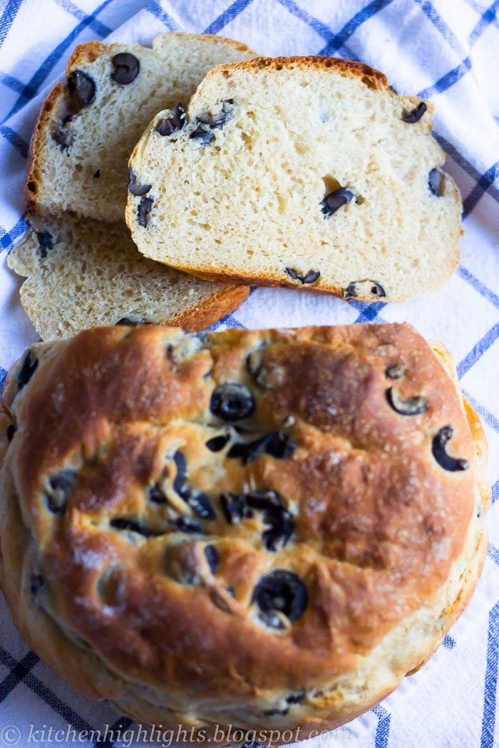 Homemade Black Olive Bread - Taste of Greece