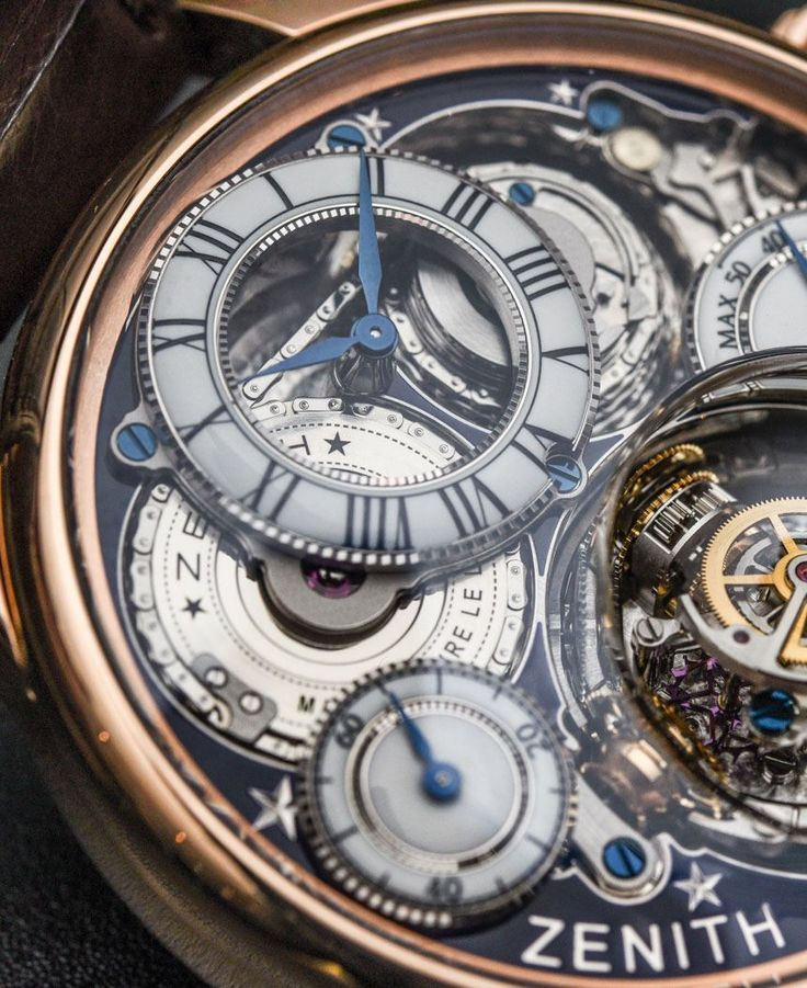 """Zenith Academy Christophe Colomb Hurricane Grand Voyage II Watch Hands-On - by Kenny Yeo - see the hands-on photos & read more about this crazy watch on aBlogtoWatch.com """"To mark the brand's 150th anniversary, Zenith has introduced another version of its ultra-complicated Academy Christophe Colomb Hurricane watch (hands-on here). That watch is unique because of its gimbal-style gyroscopic escapement, which Zenith calls a 'Gravity Control system'; it also has a fusée-and-chain..."""""""