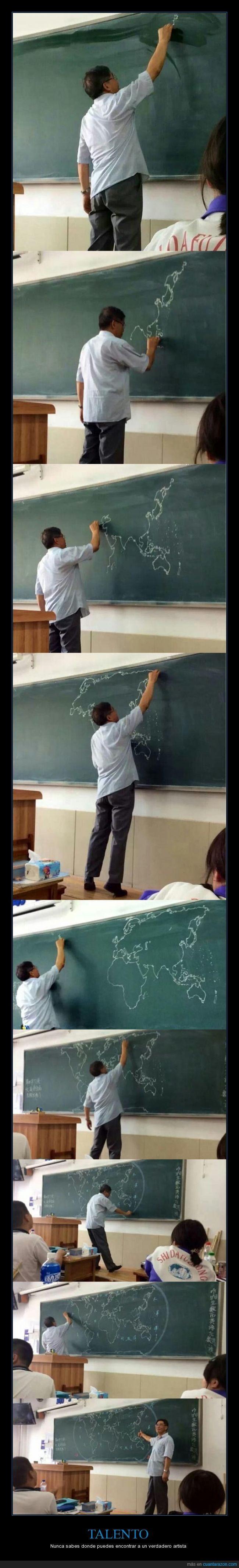Espectacular el dibujo que acaba haciendo este profesor - Nunca sabes donde puedes encontrar a un verdadero artista