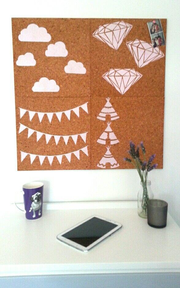 Girls bedroom / dorm room cork pinboards. Diamonds, Clouds, Bunting, Teepees #pinboard #corkboard #girlsbedroom #bunting #diamonds #teepees #clouds http://binaryoptions360review.com/