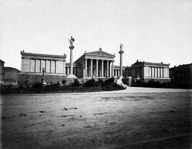diaforetiko.gr : Σπάνιες ελληνικές φωτογραφίες που σίγουρα δεν έχετε ξαναδεί-Ακαδημία Αθηνών,δεκαετία 1890.