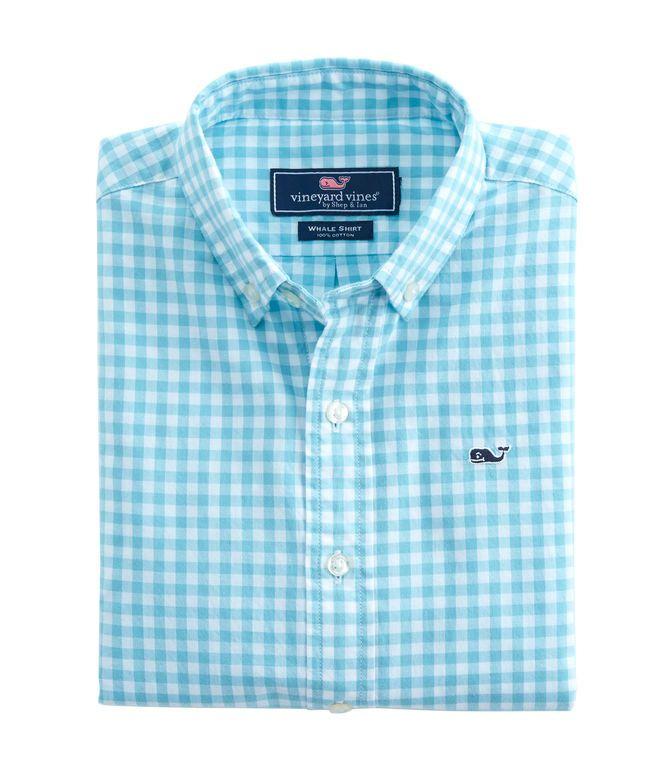 45532506e93 Boys Garden Quarter Gingham Whale Shirt | Jordan & Peyton | Whale ...