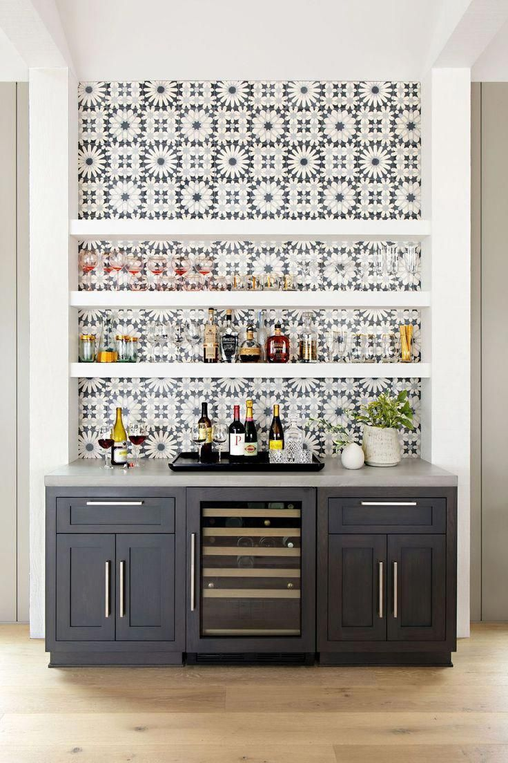 Basement Bar Ideas Design Beautiful Tile Backsplash
