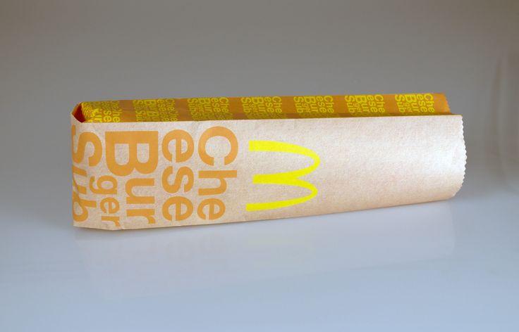 Course: GD201 Designer: Melanie Steinbrecher Assignment/Description: Design a package for McDonald's Sub Wraps