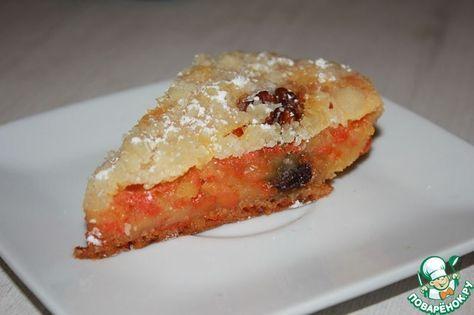 Постный морковный пирог ингредиенты