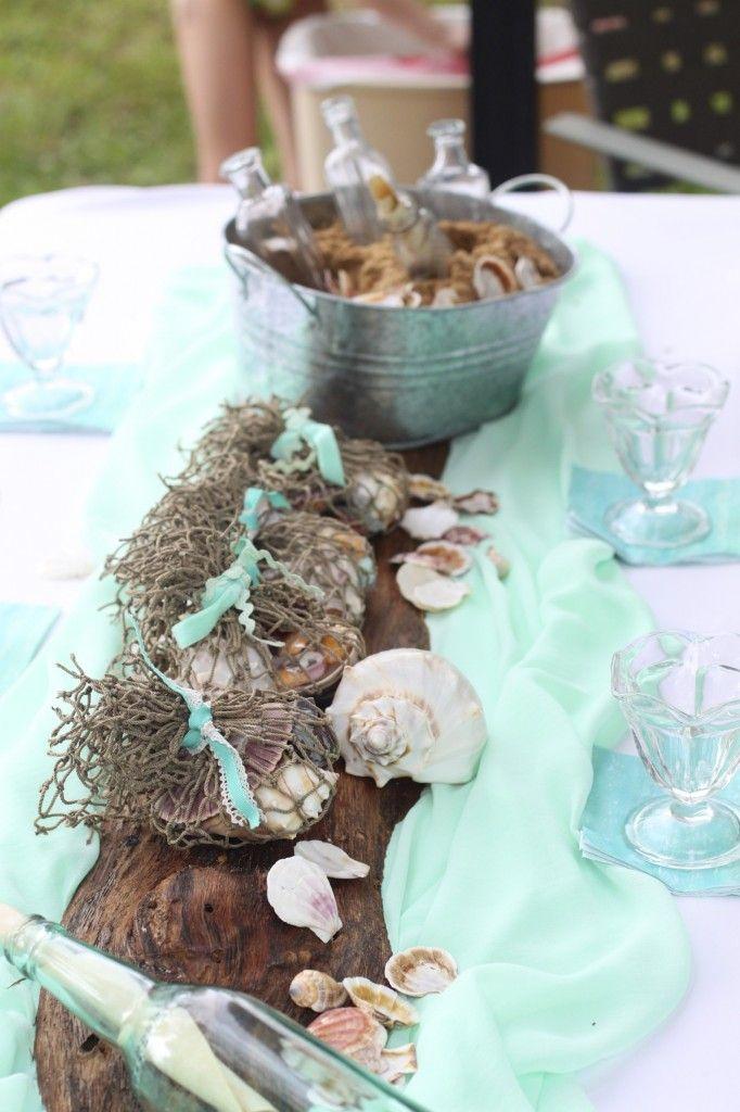 an elegant mermaid party