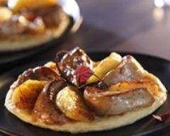 Tatin de foie gras chaud et pommes au miel http://www.cuisineaz.com/recettes/8628-impression.aspx
