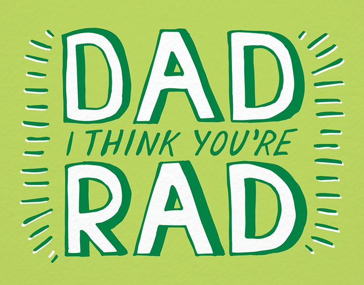 Rad Dad card by Postable on Postable.com