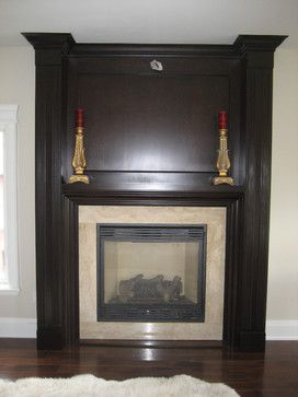 Wall Units and Fireplaces contemporary