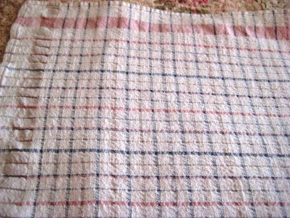 Pastel rectangle tablecloth checked or plaid by EndlesslyVintage