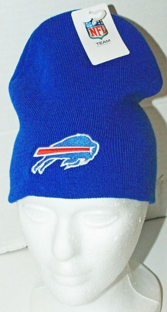 BUFFALO BILLS - NFL FOOTBALL TEAM APPAREL REEBOK ADULT ONE SIZE BLUE BEANIE NEW #Reebok #BuffaloBills