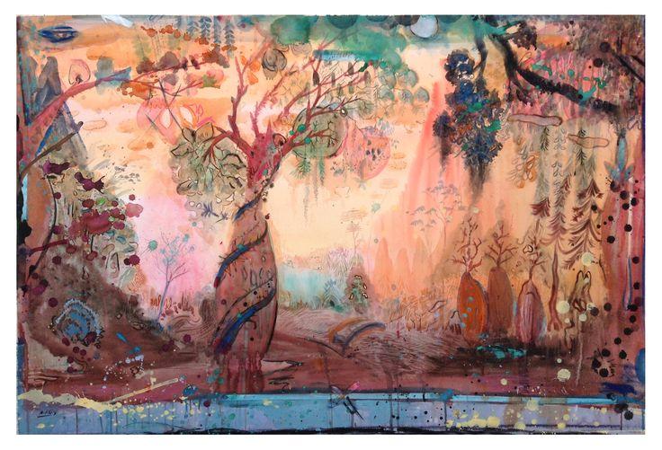 ACORDES 150x100cm, Acurela sobre Papel #art #watercolor #tree #painting #lucaspertile