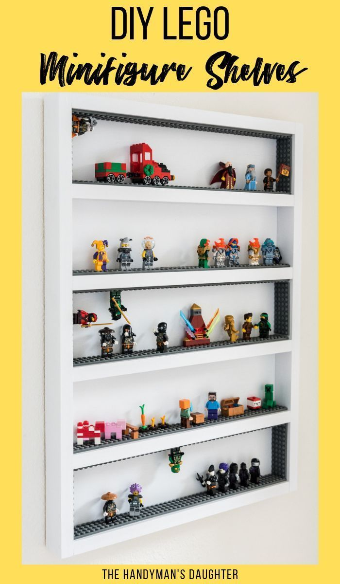 Diy Lego Minifigure Display Case Lego Storage Solutions Lego Storage Diy Lego Minifigure Display