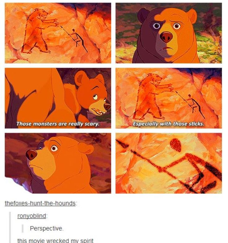 Disney and their deep perspective meanings. #Disney #BrotherBear #Perspective
