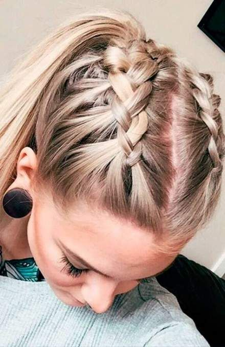 Trendy braids hairstyles for sports cute ideas