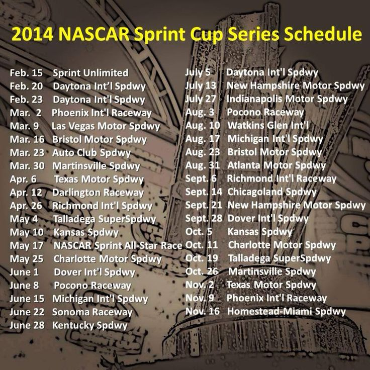 #NASCAR 2014 is right around the corner. Time to start booking your Action jackson Sports Tours today!