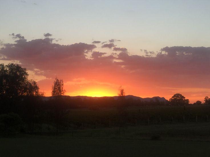 Sunset over the Brokenback Ranges
