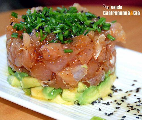 Tartar de atún con aguacate