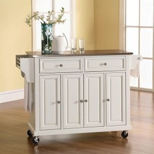 Not a bad price on a portable kitchen island - $350