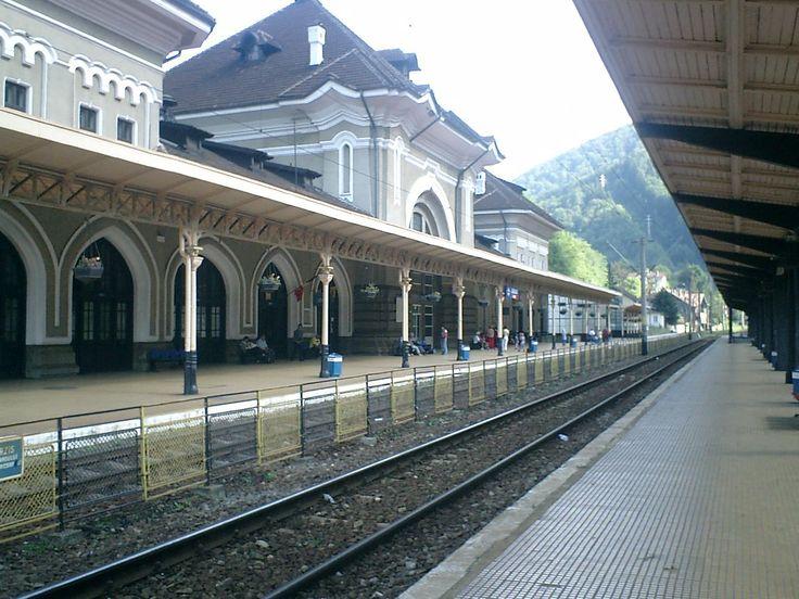 Sinaia's train station.