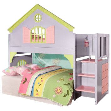 Discovery World Furniture Dollhouse Twin Loft Bed
