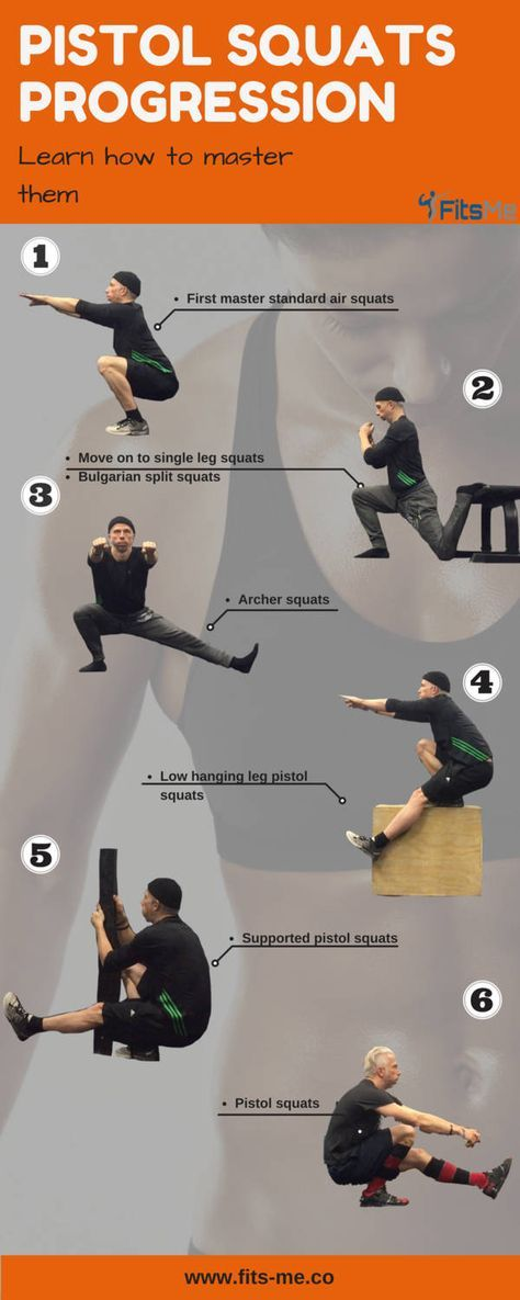 pistol squats progression