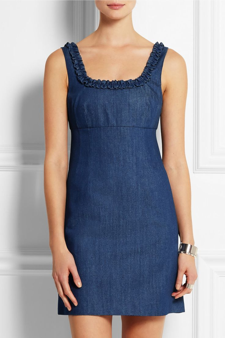 Topshop Unique | Angie denim mini dress | NET-A-PORTER.COM