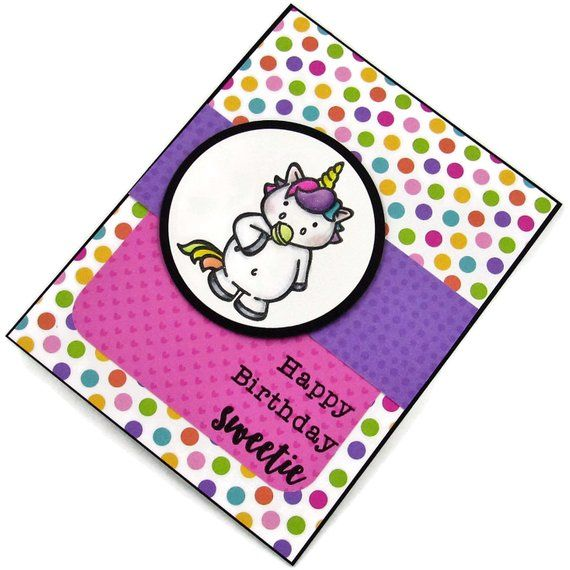 Handmade Birthday Card - Happy Birthday Sweetie - Homemade