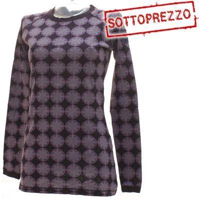 Tipologia: T-shirt sportiva da donna Te ssuto: 100% cotone Vestibilità: Regolare Caratteristiche: T-shirt girocollo con cuciture a vista Colore : Prugna