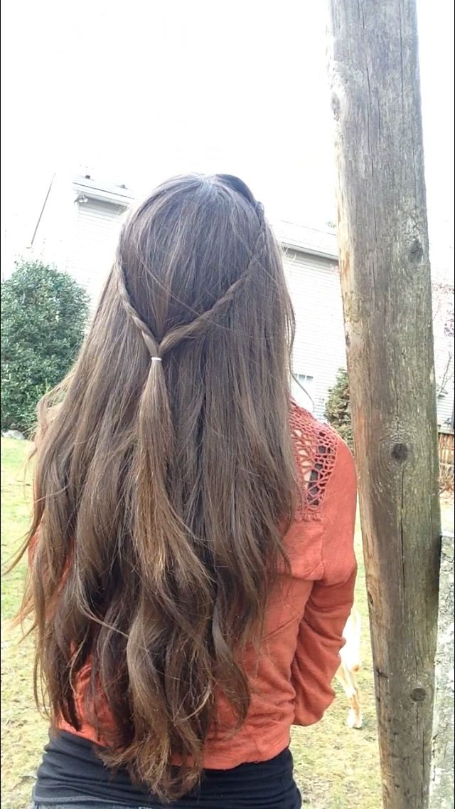 Easy quick hairstyle for school<3