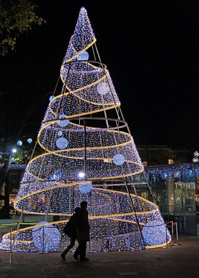 Arbre de Noël, Duke of York Square, Chelsea, Londres