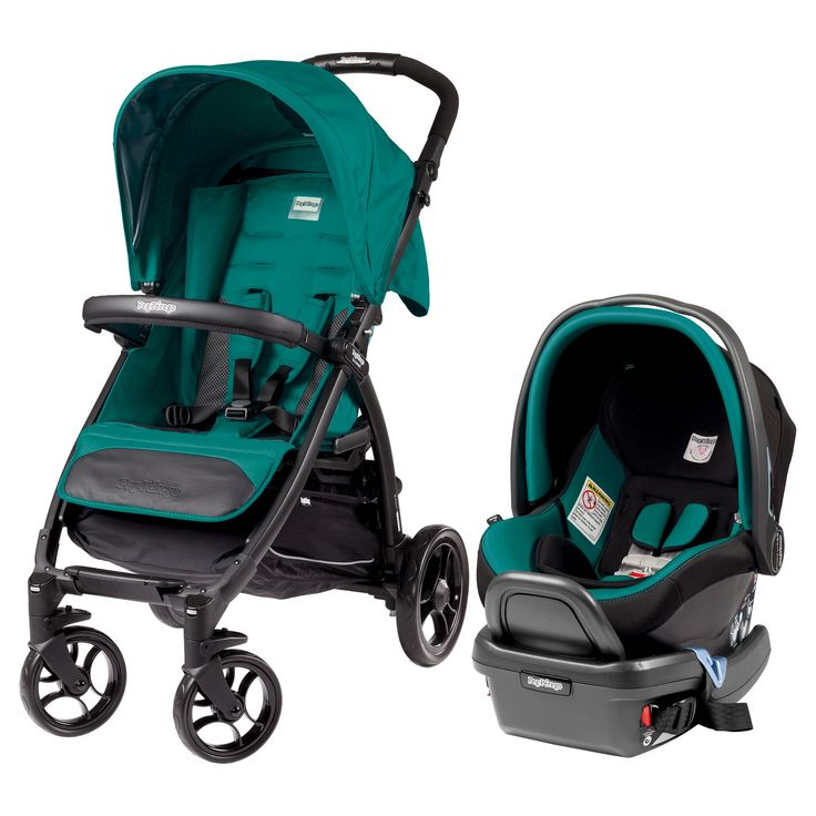 Peg Perego Booklet Travel System stroller and car seat, Aquamarine