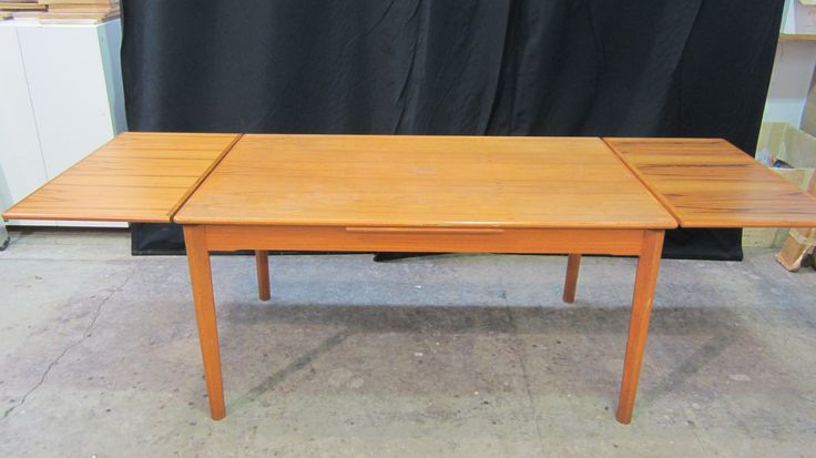 The Foellmer's project: #teak #drawleaf #dining #table in for #refinishing