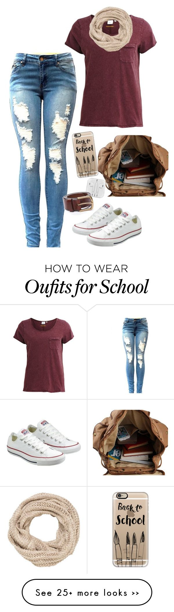 """Back To School"" by blondybecca on Polyvore featuring Object Collectors Item, Converse, Casetify and maurices"