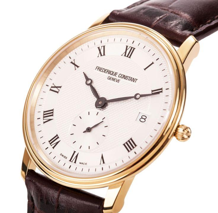 17 best images about keeping time alligators omega frederique constant slim line quartz mens watch fc 245m4s5 watch