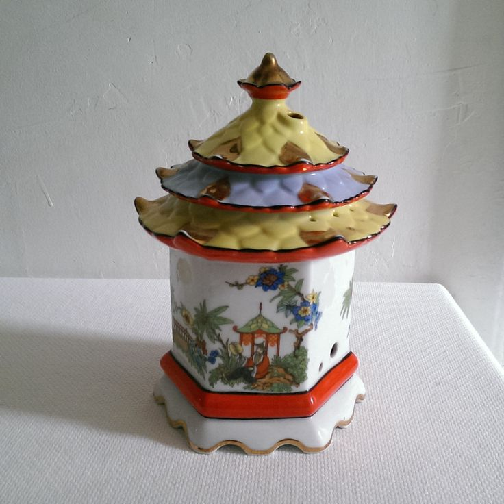 Vintage Porcelain Pagoda Large Incense Holder by StudioSeaGlass