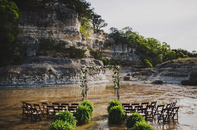 we are smitten with the wedding that took place in the river!