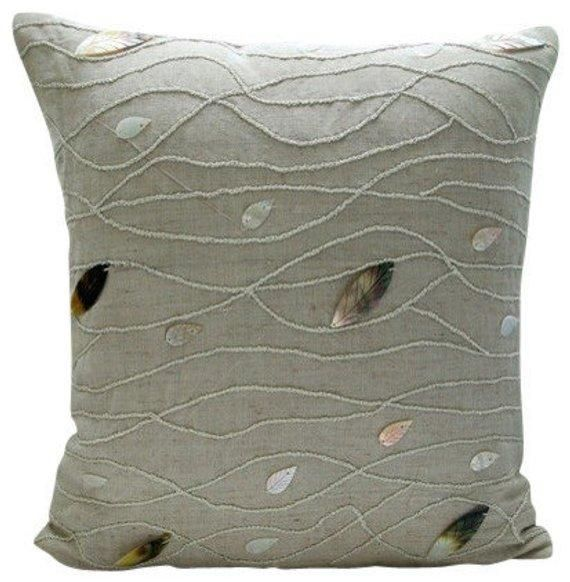 French Linen Square pillow case The